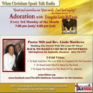 Adoration with Evangelist Mac featuring Rev. Linda Matthews (REPLAY)