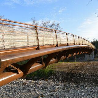 Inaugurato il nuovo ponte sull'Igna, con i bambini. In un videoclip un anno di lavori
