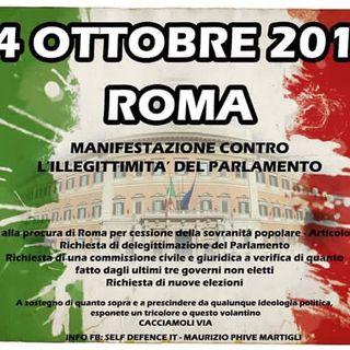 MANIFESTAZIONE AUTORIZZATA - 14 ottobre 2016 Roma