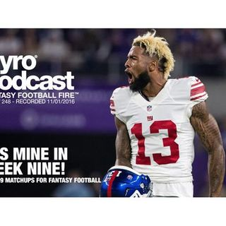Week 9 Fantasy Football Matchups - Pyro Podcast - Show 248