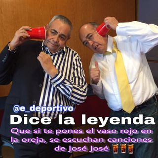Dicen que si Te pones el vaso Rojo en la Oreja, escuchas a José José, Espacio Deportivo de la Tarde 15 de Febrero 2019