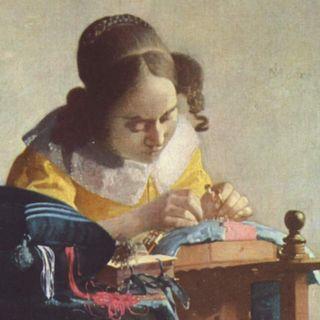 Luwr #10 – Jan Vermeer, Koronczarka, sala 837