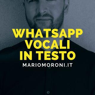 Whatsapp: i messaggi vocali diventeranno anche testuali