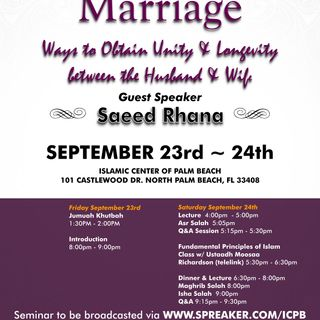 Marriage: Unity between Husband and Wife