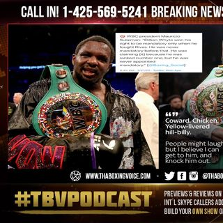 "☎️Dillian Whyte Lies Exposed By WBC's Mauricio Sulaiman ""He Was Never Mandatory Before Rivas""😱"