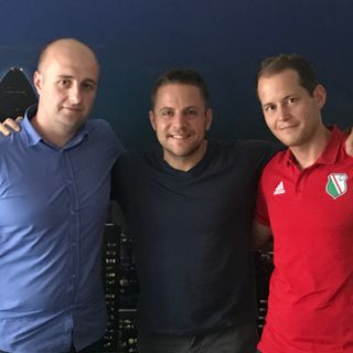Discussing Polish football with Marcin Michalak and Krzysztof Szumowski