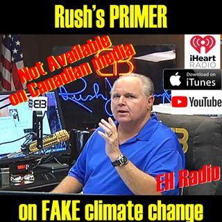 Morning Moment Rush explains Climate change Jan 26 2018