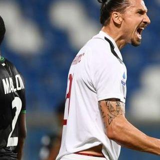 Milan capolista nel segno di Ibra. Il Sassuolo dei miracoli sbanca Napoli ed è 2°