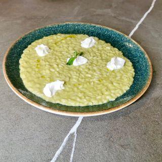 Risotto crema di asparagi e burrata di Andria