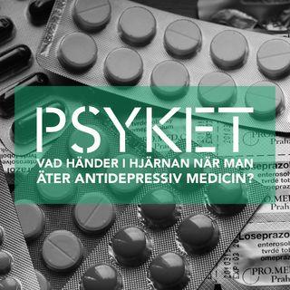 Vad händer i hjärnan när man äter antidepressiv medicin?