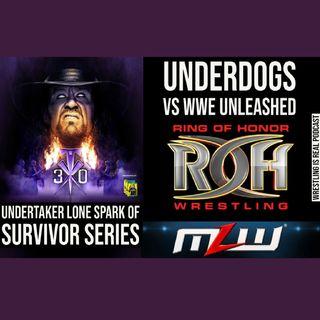 Undertaker Lone Spark of Survivor Series; Underdogs vs WWE Unleashed  KOP111220-573