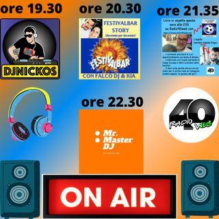 """Radio 40 """" Before The Night """" Domenica Sera 21/02/2021"""