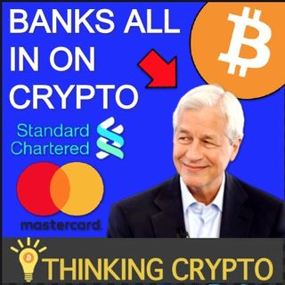 BANKS BULLISH ON BITCOIN - Standard Chartered Crypto Custody - PayPal Paxos Crypto Brokerage - Mastercard Crypto Card Services