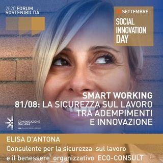 Digital Talk | Smart Working 81/08: la sicurezza sul lavoro tra adempimenti e innovazione | Eco-Consult | Forum Sostenibilità 2020