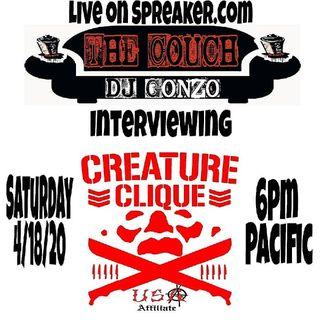 Creature Clique Episode 5 - The Couch W Dj Gonzo
