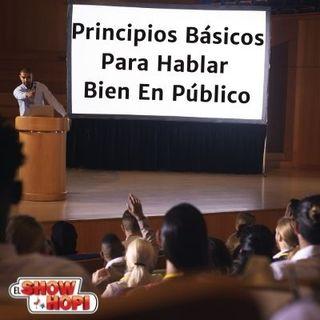 Principios Básicos Para Hablar  Bien En Público