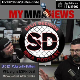 UFC 235 MMA News Bellator 217 Jones Picograms Covington Paige Matt Hughes Cro Cop PFL ESPN