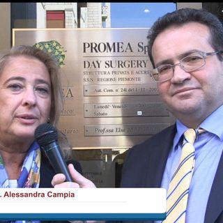 Francesco D'Alessandro intervista l'Avv.  Alessandra Campia presso la Clinica Promea