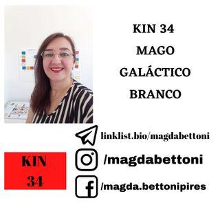 KIN 34 MAGO GALÁCTICO BRANCO - 3ª Onda Encantada do Tzolkin –  ONDA ENCANTADA DA MÃO AZUL