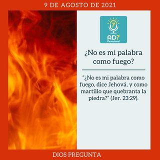 9 de agosto - ¿No es mi palabra como fuego? - Devocional de Jóvenes - Etiquetas Para Reflexionar