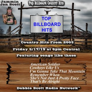 Billboard Top Country Music Hits from 2003 5-17-19