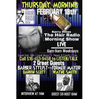 The Hair Radio Morning Show LIVE #533  Thursday, February 18th, 2021