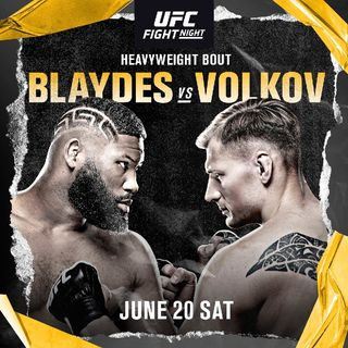 Preview Of The UFCVEGAS3 Card Headlined By HW'S Curtis Blades Alexander Volkov Live On ESPN Saturday Night