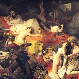 Luwr #7 – Eugene Delacroix, Śmierć Sardanapala, sala 700