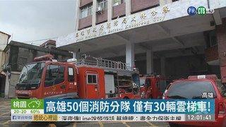 13:20 高雄多達50消防分隊 僅有30輛雲梯車! ( 2019-05-07 )
