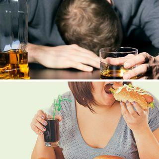 El alcoholismo y comedores compulsivos