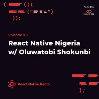 RNR 181 - React Native Nigeria with Oluwatobi Shokunbi