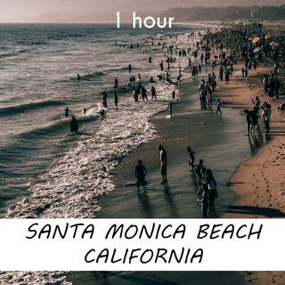 Santa Monica Beach, California   1 hour RIVER Sound Podcast   White Noise   ASMR sounds for deep Sleep   Relax   Meditation   Colicky