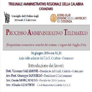 Processo Amministrativo Telematico - 16 giugno 2016 CATANZARO