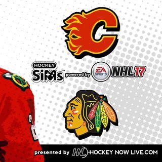 Flames vs Blackhawks (NHL 17 Hockey Sims)