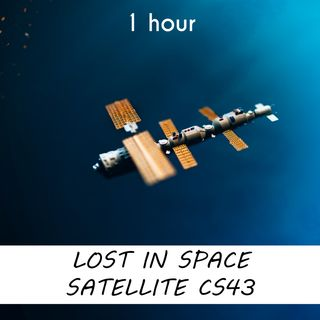 Lost in Space Satellite C543 | 1 hour CELESTIAL Sound Podcast | White Noise | ASMR sounds for deep Sleep | Relax | Meditation | Colicky