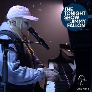 "Tones and I - Live at The Tonight Show Starring Jimmy Fallon | Acoustic Performing "" Dance Monkey "" 