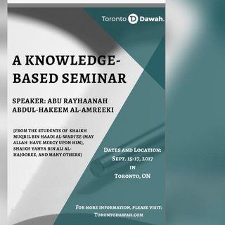 Abu Rayhaanah Seminar, September 2017