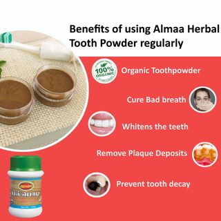 Benefits of using Almaa Herbal Tooth Powder