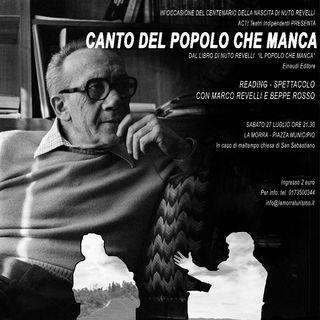 """Beppe Rosso """"Canto del popolo che manca"""""""