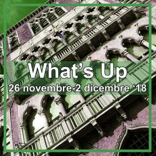 What's Up: 26 novembre-1 dicembre