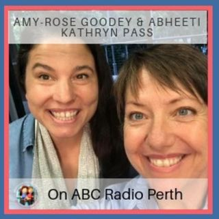 Amy-Rose Goodey and Abheeti Kathryn Pass from Crypto Clothesline Podcast on ABC Radio Perth