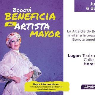 Alcaldía de Bogotá otorga beneficio económico a artistas y gestores culturales mayores