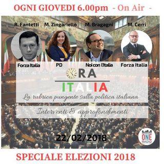 i nostri ospiti per ORA ITALIA SPECIALE ELEZIONI 2018 - Mina Zingariello, Matteo Cerri, Maurizio Bragagni, Federico Amadei