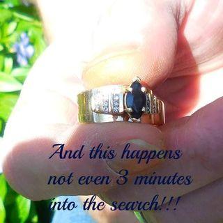 5/2/21 3 minutes into the hunt...(Sapphire and diamond arthritic wedding ring return)