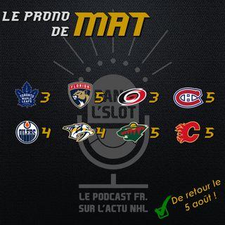 Playoffs NHL 2020 - Les pronos de Mat (Tour de qualification)