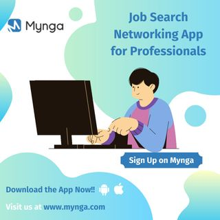 Job Search App for IOS and Android - Mynga