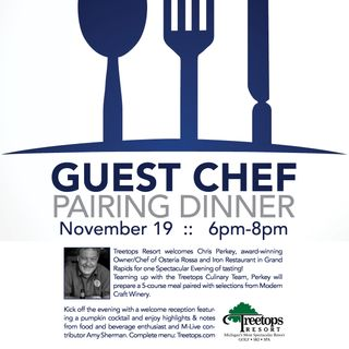 Treetops Resort wine dinner with Grand Rapids chef Chris Perky
