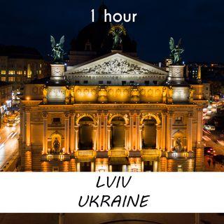 Lviv, Ukraine | 1 hour RIVER Sound Podcast | White Noise | ASMR sounds for deep Sleep | Relax | Meditation | Colicky