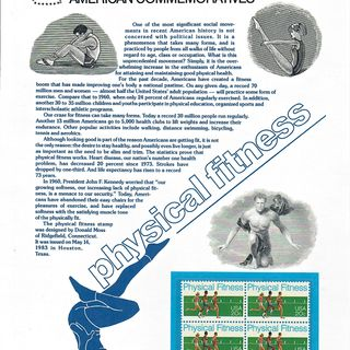 Why Not Health? 1983 USPS Physical Fitness Stamps