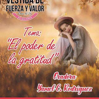 Yamel C. de Rodriguez tema El poder de la Gratitud